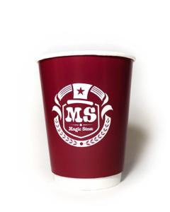 бумажные стаканы для горячих напитков логотип